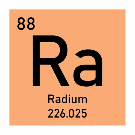 Illustration of the periodic table Radium chemical symbol Stock Illustration - 124719786