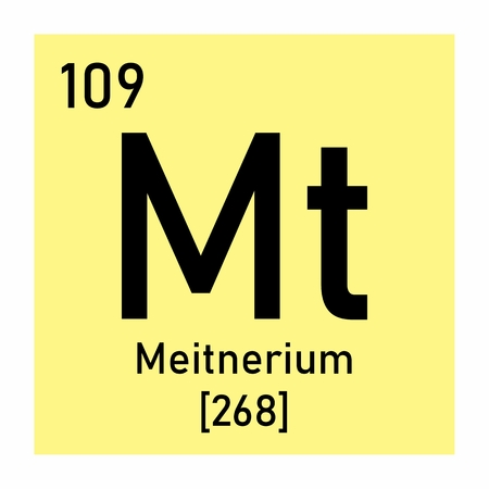 Illustration of the periodic table Meitnerium chemical symbol  イラスト・ベクター素材