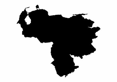 Venezuela map dark silhouette isolated on white background Imagens - 124719839
