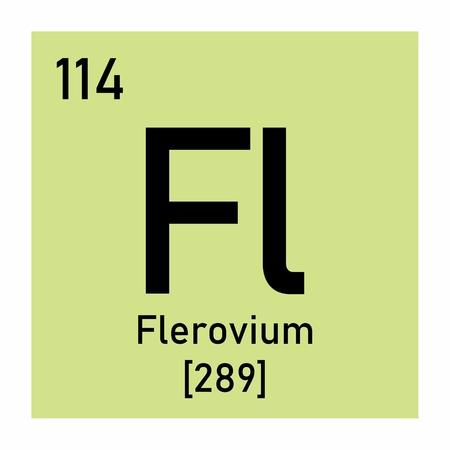 Illustration of the periodic table Flerovium chemical symbol