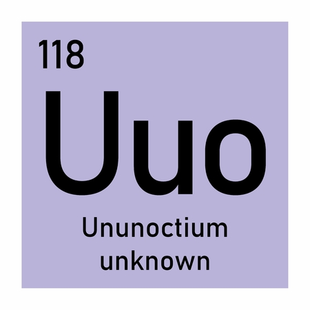 Illustration of the periodic table Ununoctium chemical symbol Ilustração