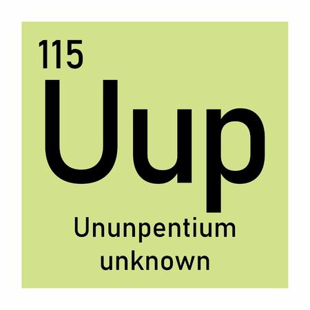 Illustration of the periodic table Ununpentium chemical symbol Imagens - 124719894
