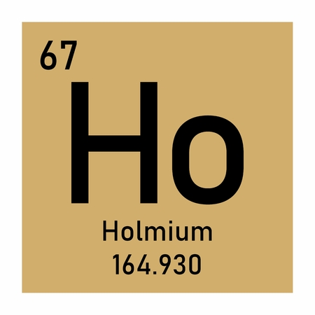 Illustration of the periodic table Holmium chemical symbol