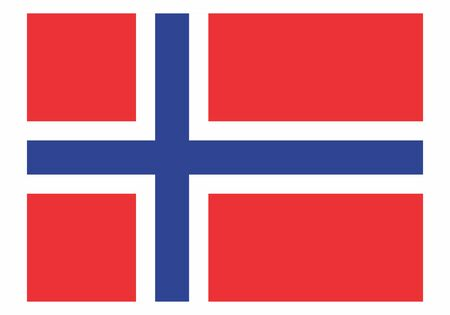 Illustration of the isolated Norway national flag