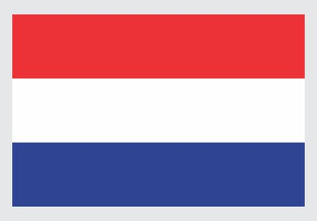 Illustration of the isolated Netherlands national flag