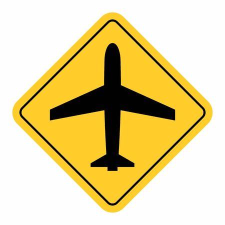 Airport traffic sign Ilustração
