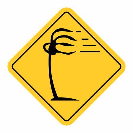 Wind traffic sign