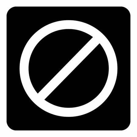 A black and white Generic prohibition icon Illustration