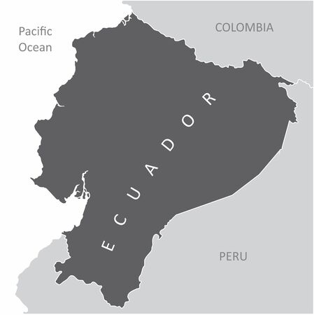 The Ecuador region map in South America  イラスト・ベクター素材
