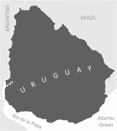 The Uruguay region map in South America