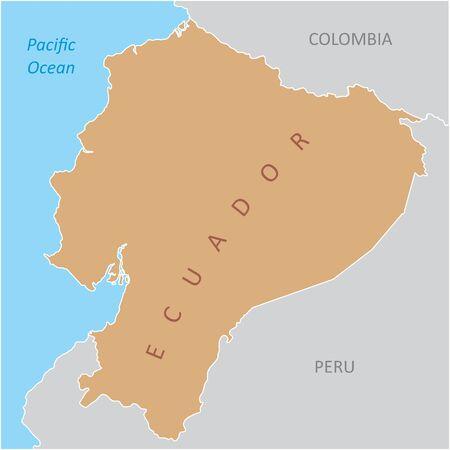 The Ecuador region map in South America Ilustração