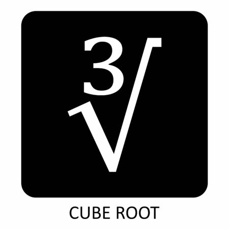Cube root icon
