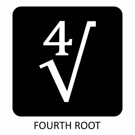 Fourth root icon