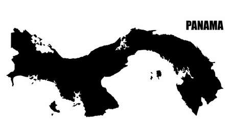 Panama silhouette map