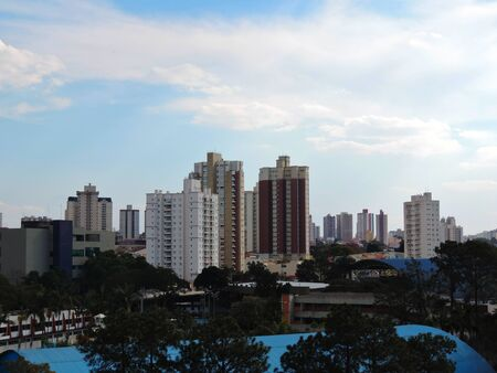 Panoramic view of the Santo Andre city, Brazil Stok Fotoğraf