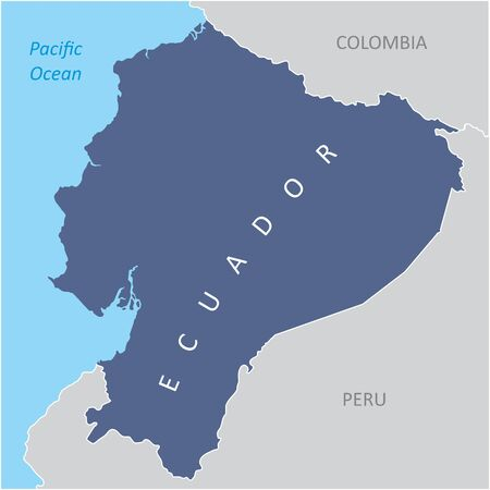 The Ecuador region map in South America Çizim
