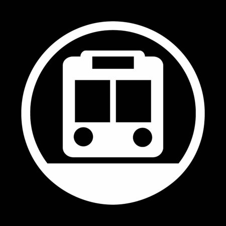 A black and white Metro icon illustration  イラスト・ベクター素材