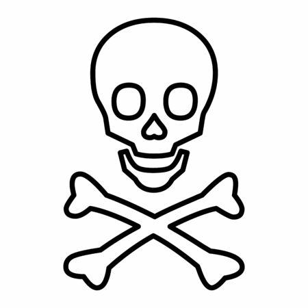 Line skull icon