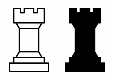 Chess tower icons Çizim