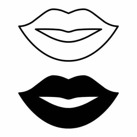 Female mouth icons