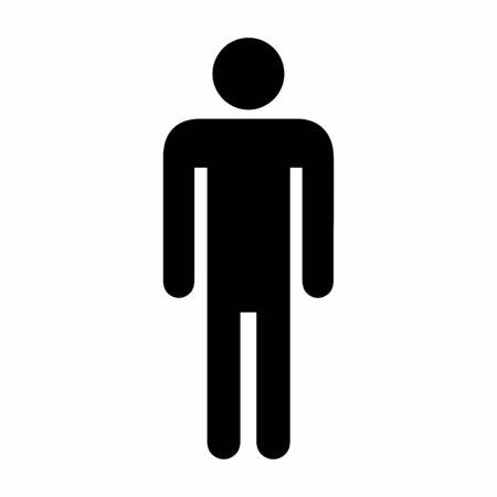 Illustrazione dell'icona degli uomini su sfondo bianco