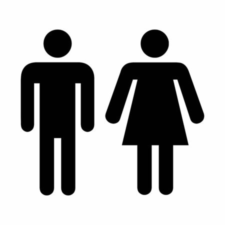 Illustration of Men and Women icon on white background
