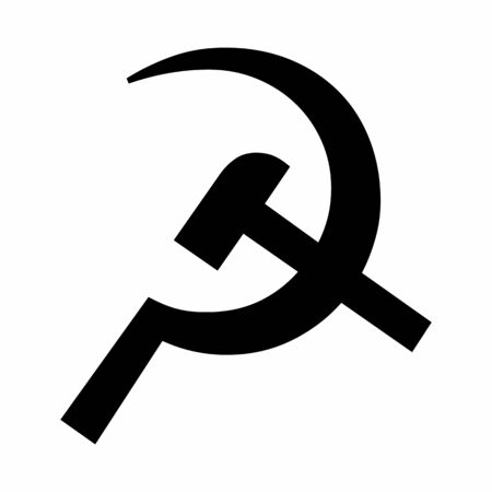 Black Hammer and Sickle icon on white background