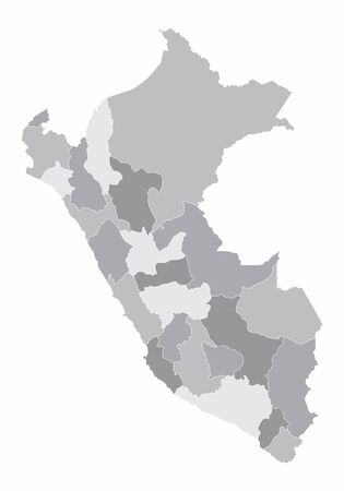 Peru regions map Illustration