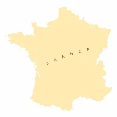 France silhouette map