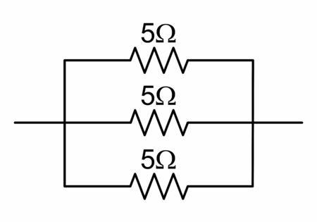 The illustration of a simple circuit with resistors 向量圖像