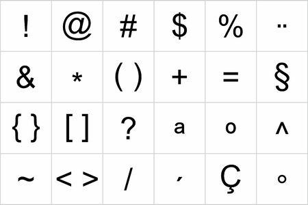 A Keyboard symbol set on white background Vetores