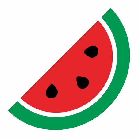 A Watermelon icon illustration on white background