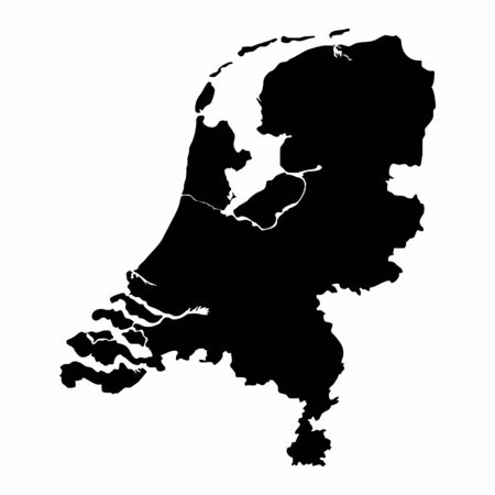 Netherlands silhouette map