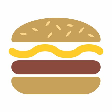 Burger colorful icon isolated on white background
