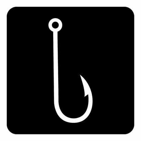 A black and white Fish hook icon