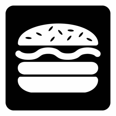 Burger white icon