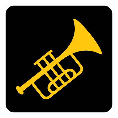 A colorful Trumpet icon illustration on dark background