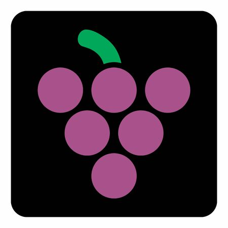 Grape icon illustration Çizim
