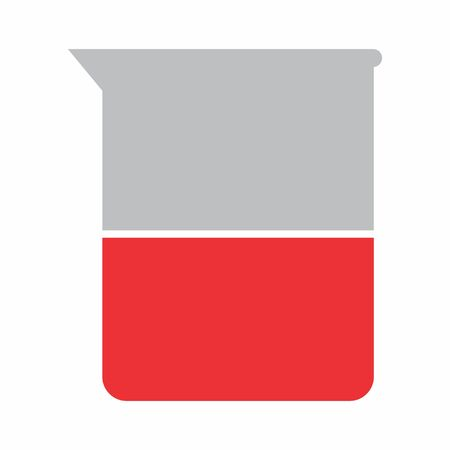 Lab flask icon illustration on white background