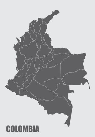 Colombia regions map
