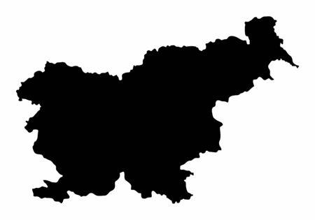 Slovenia silhouette map Ilustração