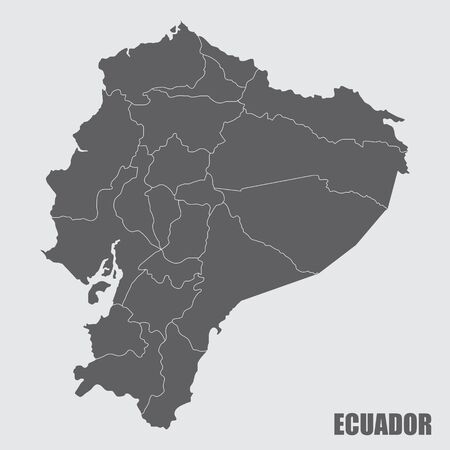 Ecuador regions map 向量圖像