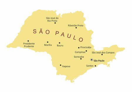 Sao Paulo State cities map