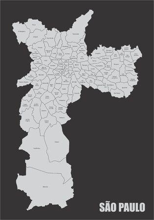 Sao Paulo city map