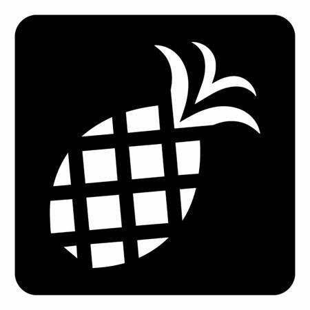 Pineapple icon illustration