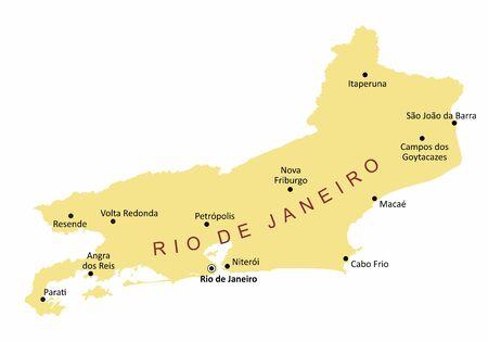 Rio de Janeiro State cities map