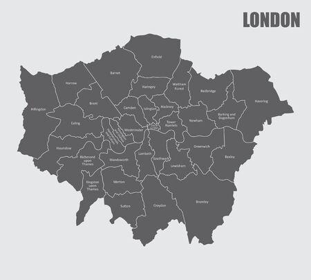 Carte des régions de Londres