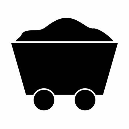 Mine cart icon illustration isolated on white background