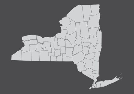 Map of the state of New York and its counties