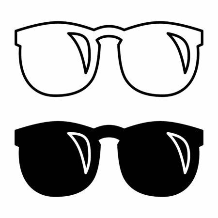 The black and white glasses icons illustration